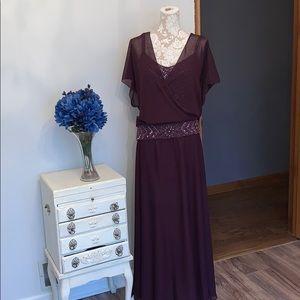 Cameron Blake by Monday Cheri eggplant gown